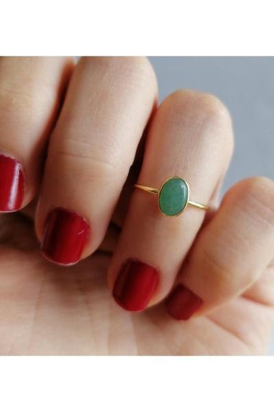 فروش پستی ست انگشتر زنانه برند Simaria Takı رنگ سبز کد ty68660759