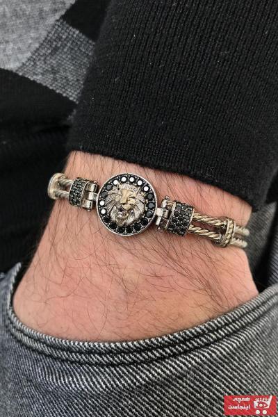 خرید اینترنتی دستبند دستبند مردانه برند FRNCH رنگ مشکی کد ty70116371
