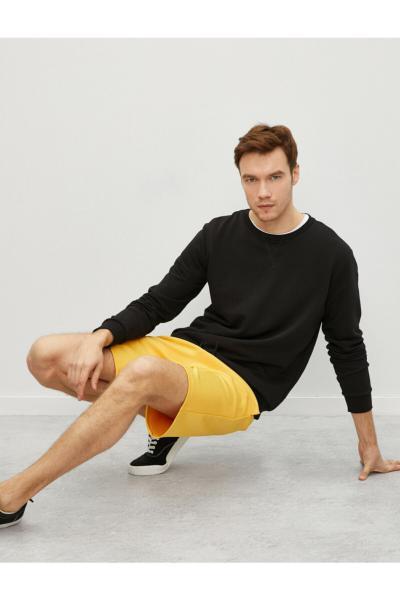 شلوارک مردانه ترک جدید برند کوتون رنگ زرد ty73216276