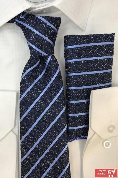 فروش پستی کراوات مردانه اصل جدید برند Quesste Accessory رنگ آبی کد ty74469627