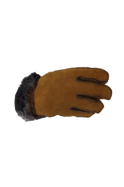 دستکش بچه گانه دخترانه برند ÖZEL ASPAVA DERİ رنگ قهوه ای کد ty77811440