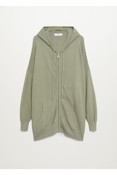 ژاکت بافتی زنانه شیک جدید برند منگو رنگ خاکی کد ty79426706