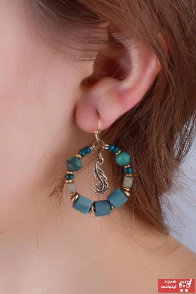 گوشواره زنانه مارک برند MadameConcept رنگ آبی کد ty80042484
