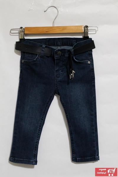 خرید شلوار لی بچه گانه دخترانه شیک مجلسی برند Ozan Kids رنگ آبی کد ty80854918