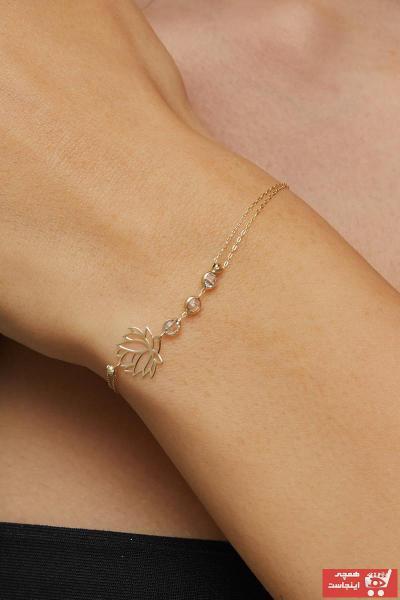 فروشگاه دستبند طلا زنانه اینترنتی برند Dialook Jewelry رنگ زرد ty87047040