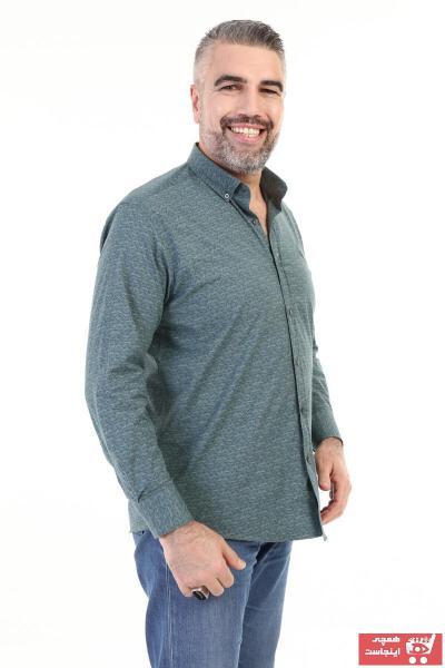پیراهن کلاسیک مردانه اینترنتی برند YmzModa رنگ سبز کد ty87196585