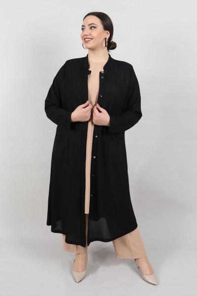 فروشگاه ژاکت بافتی زنانه اینترنتی برند KadoModa رنگ مشکی کد ty88000767