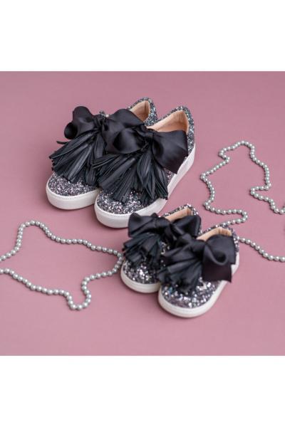 خرید کفش تخت بچه گانه دخترانه شیک برند NİNAPERLA رنگ صورتی ty88438087