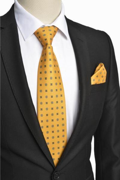 فروش کراوات مردانه خفن برند Brianze رنگ زرد ty88546617