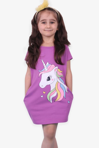 تونیک دخترانه اینترنتی برند Breeze رنگ بنفش کد ty88599442
