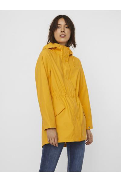 خرید انلاین بارانی جدید زنانه اصل برند ورو مدا رنگ زرد ty89101596