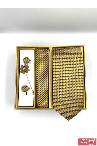 کراوات مردانه پاییزی شیک برند by Gimente رنگ زرد ty89190754