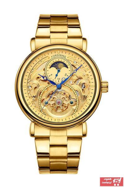خرید اینترنتی ساعت مچی مردانه  برند Forsining رنگ طلایی ty89228194