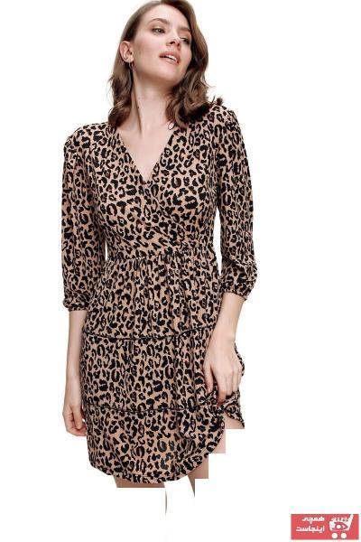 پیراهن زنانه مارک دار برند butikburuç رنگ قهوه ای کد ty89385553