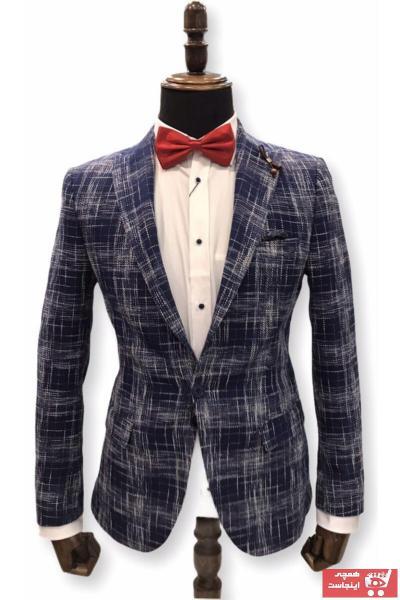 خرید اینترنتی ژاکت مردانه از استانبول برند ERK رنگ لاجوردی کد ty89429251