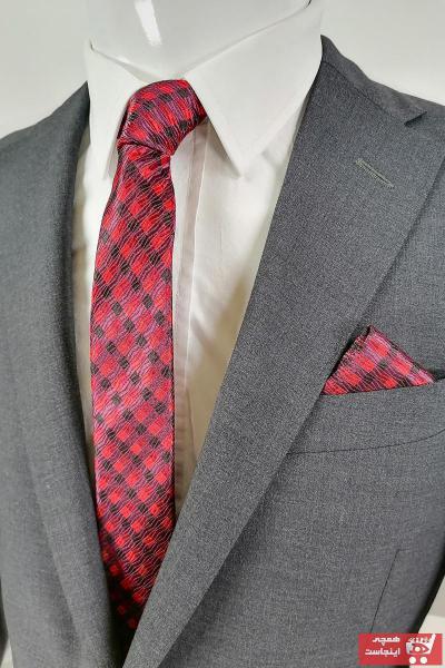 کراوات مردانه اصل برند Kravatistan رنگ قرمز ty90635656