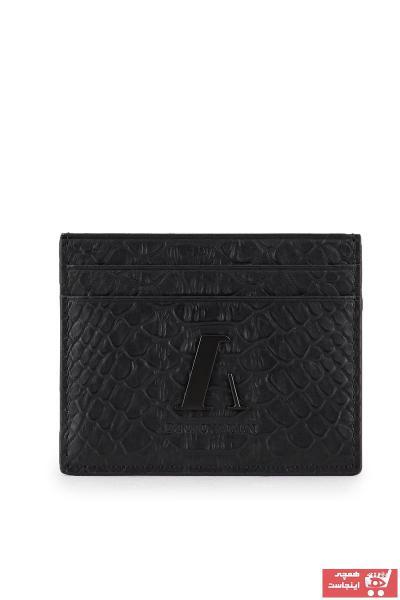 کیف کارت اعتباری مردانه مدل دار برند امپریو آرمانی رنگ مشکی کد ty91381048