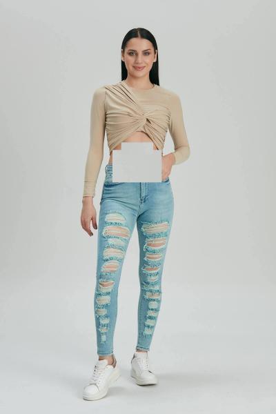 فروش اینترنتی شلوار جین زنانه با قیمت برند Modaca رنگ لاجوردی کد ty92070841