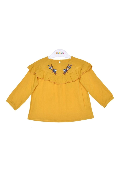 بلوز ارزان نوزاد دختر برند Çikoby رنگ زرد ty92758573