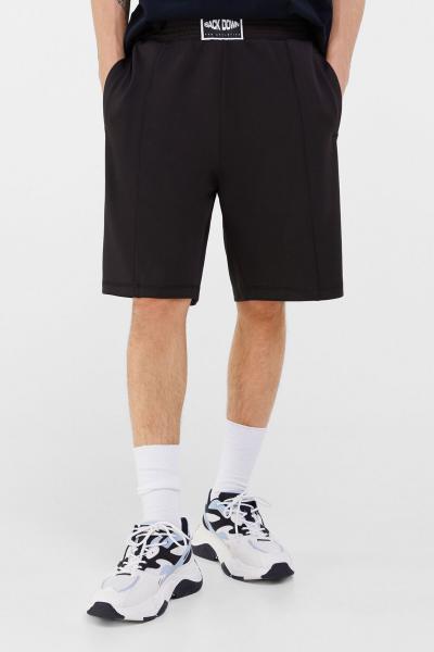شلوارک مردانه برند bershka رنگ مشکی کد ty92910158