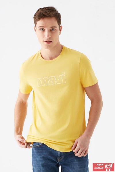 تیشرت مردانه نگیندار برند ماوی رنگ زرد ty93490799