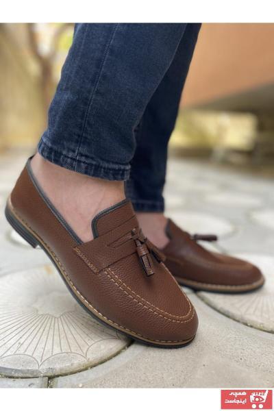 خرید کفش کلاسیک مردانه شیک مجلسی برند TarzKar رنگ قهوه ای کد ty93621994