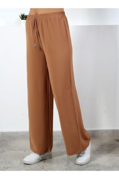 خرید انلاین شلوار زنانه طرح دار برند Moda Bu رنگ قهوه ای کد ty94077984
