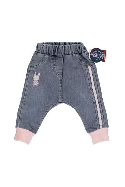 خرید نقدی شلوار جین ارزان بچه گانه دخترانه برند Overdo رنگ صورتی ty94761428