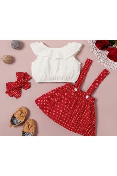 خرید دامن دخترانه شیک برند KOKOŞ BEBEK رنگ قرمز ty96461352