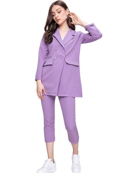 خرید اینترنتی ژاکت خاص زنانه برند butikburuç رنگ بنفش کد ty97796362