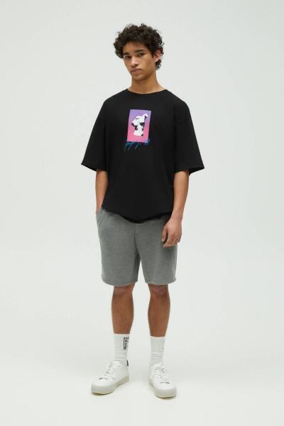 خرید اینترنتی شلوارک بلند برند Pull & Bear رنگ نقره ای کد ty98072991