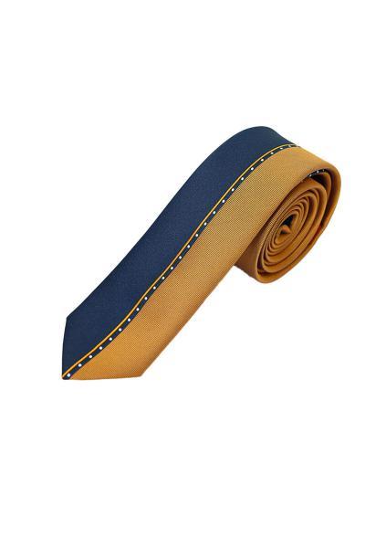 کراوات مردانه ساده برند ROMASTER رنگ زرد ty98299534