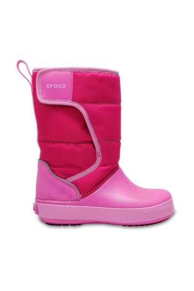 بوت بچه گانه پسرانه مدل دار برند Crocs Kids رنگ صورتی ty992458