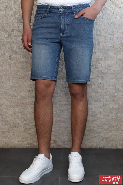 خرید انلاین شلوارک جدید مردانه اصل برند HLT JEANS رنگ آبی کد ty99743523