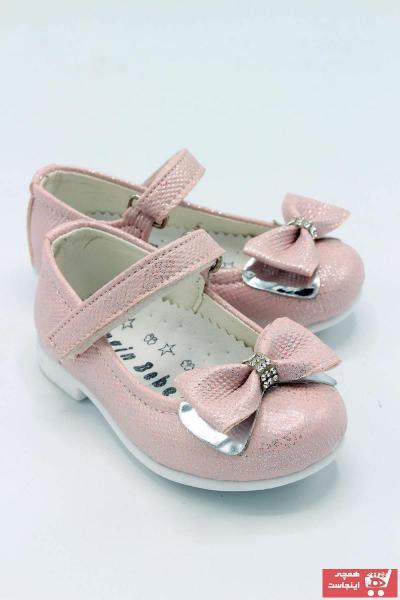 فروشگاه کفش تخت نوزاد دخترانه سال 1400 برند sermoda رنگ صورتی ty99958764