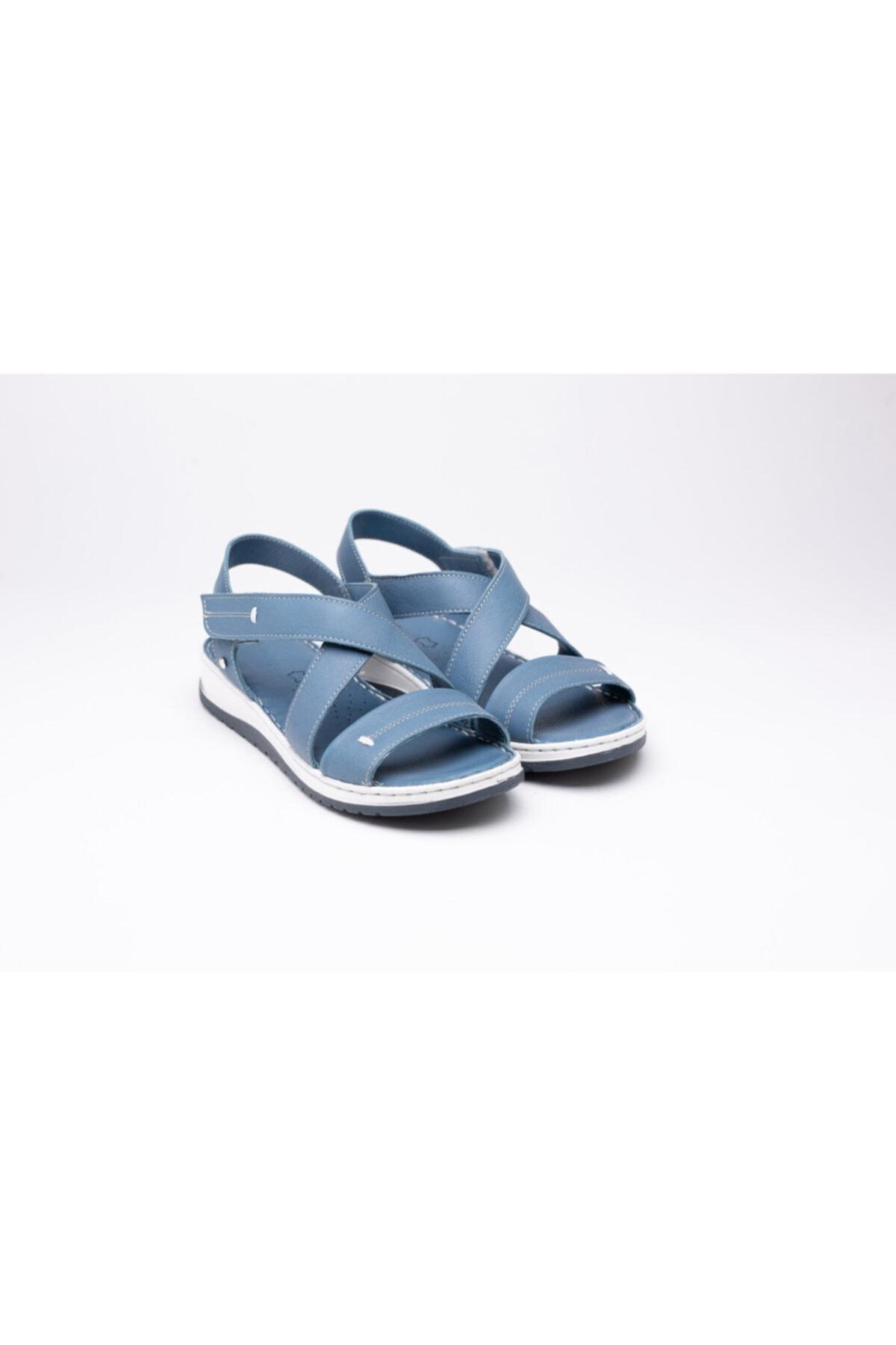 خرید نقدی صندل دخترانه ترک برند Otantik Ayakkabı رنگ آبی کد ty100125421