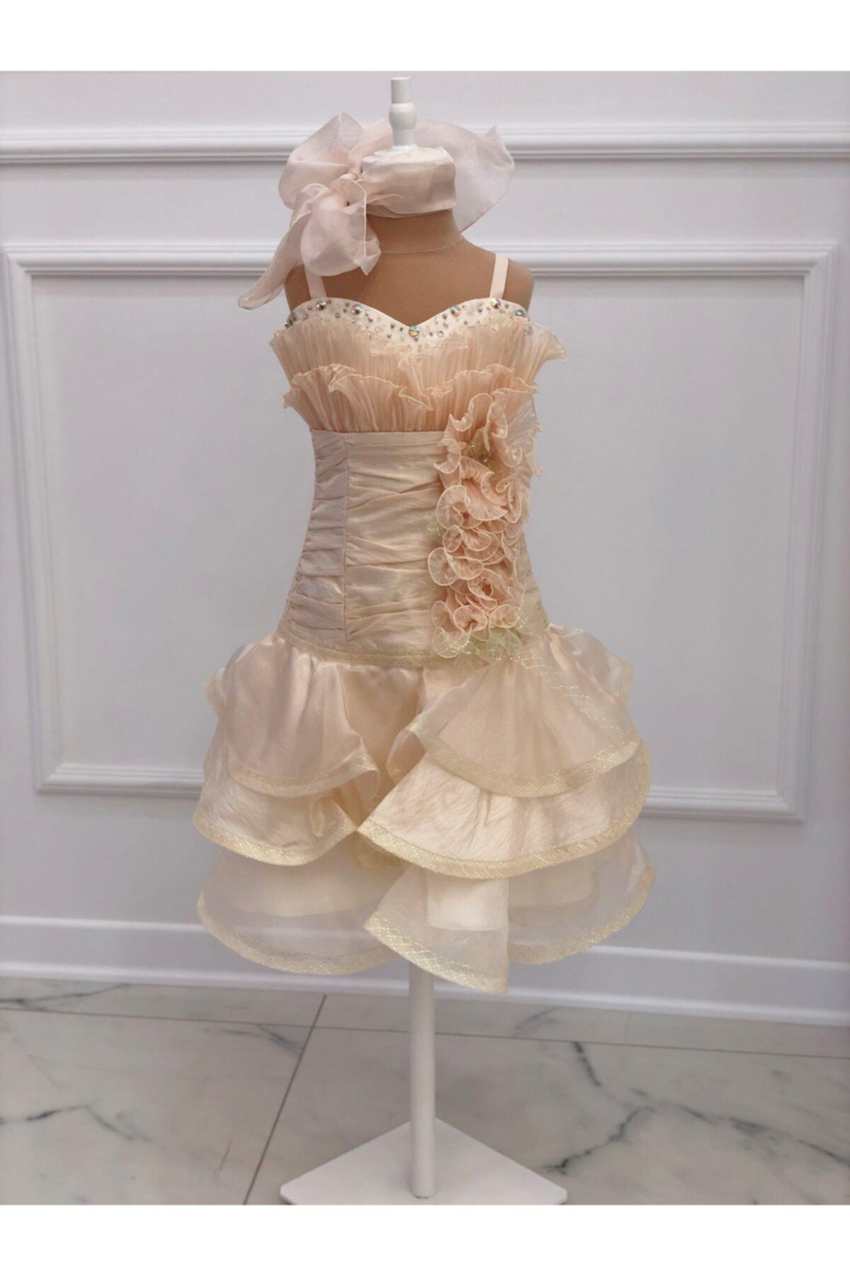 فروشگاه لباس مجلسی دخترانه اینترنتی برند ChatonDor رنگ طلایی ty104007546