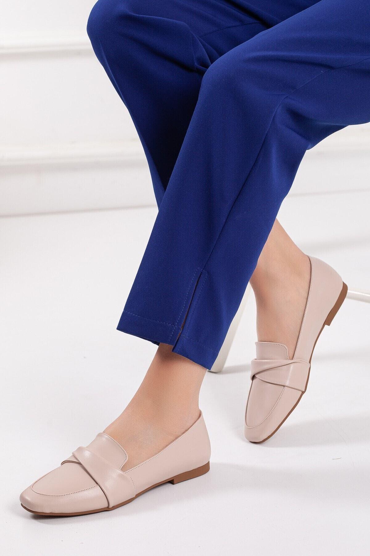 خرید اینترنتی کفش تخت خاص برند Zulu رنگ بژ کد ty106862046