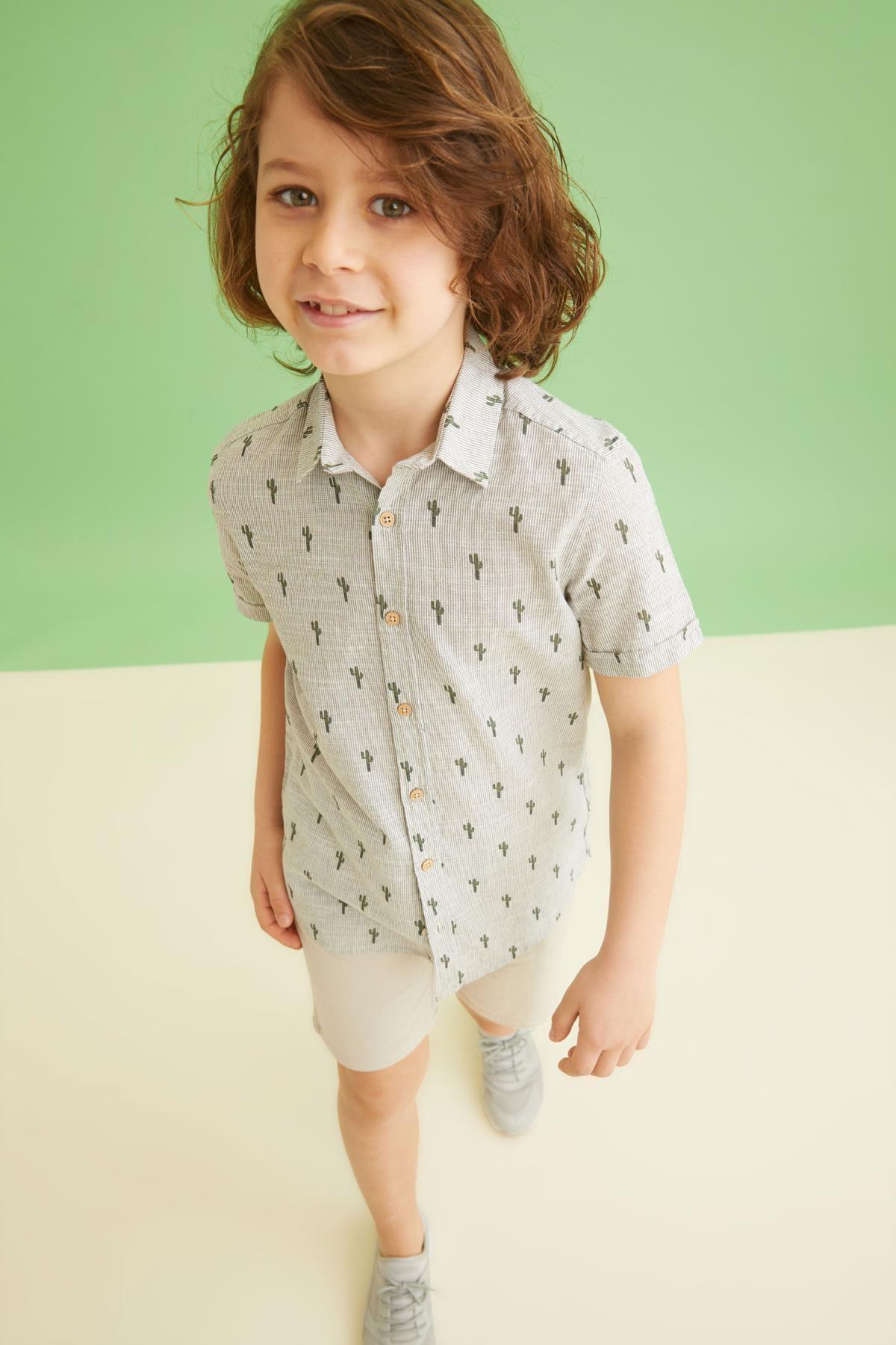 پیراهن بچه گانه قیمت برند دفاکتو ترکیه رنگ خاکی کد ty107066535