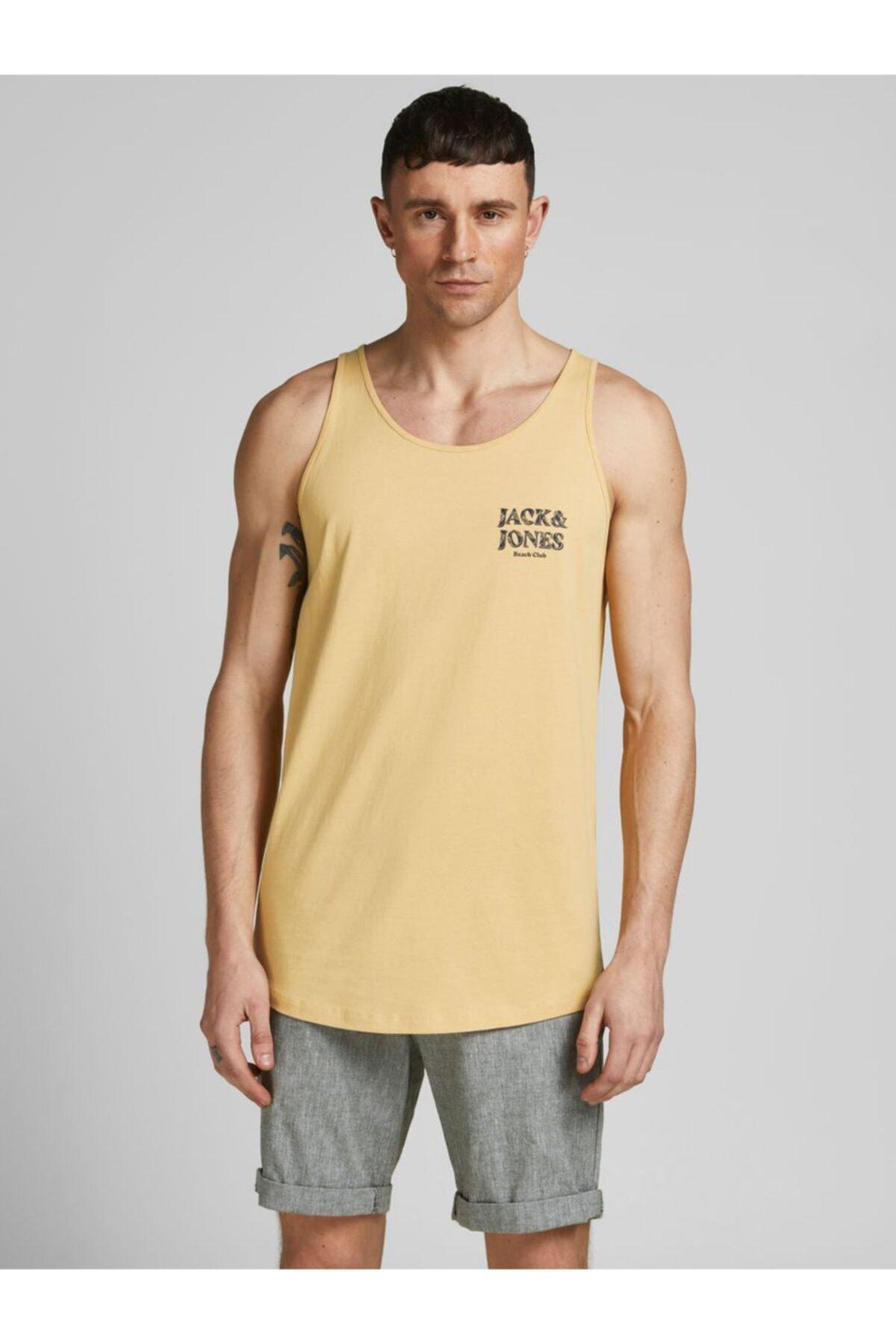 فروش پستی تاپ ورزشی مردانه شیک جدید مارک جک اند جونز رنگ زرد ty108948328