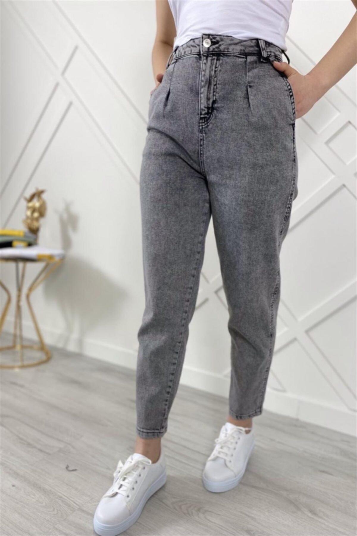 شلوار جین زنانه ترکیه برند لاكارينو رنگ نقره ای کد ty111687093