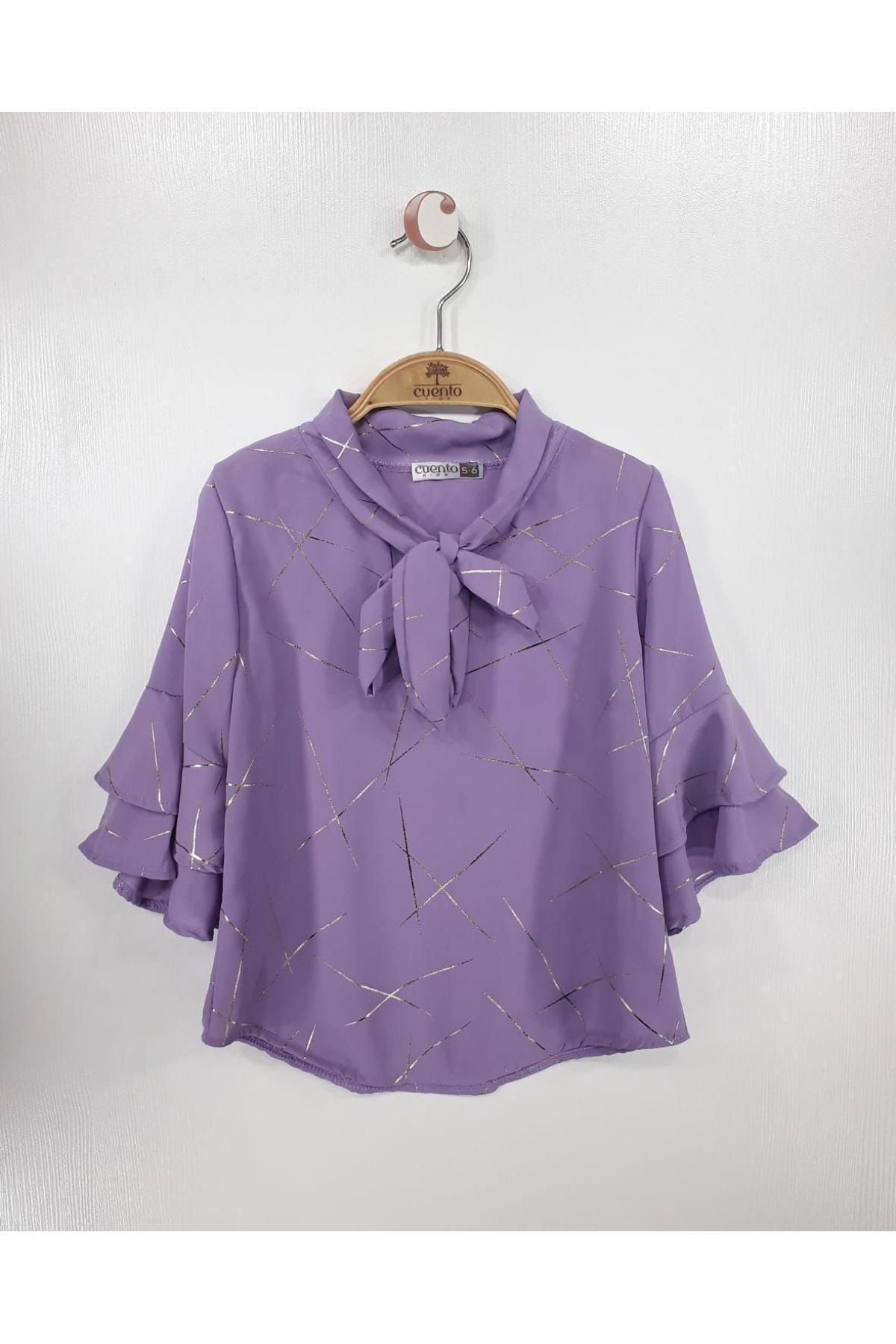 بلوز دخترانه قیمت مناسب برند MATILDA رنگ بنفش کد ty114230012