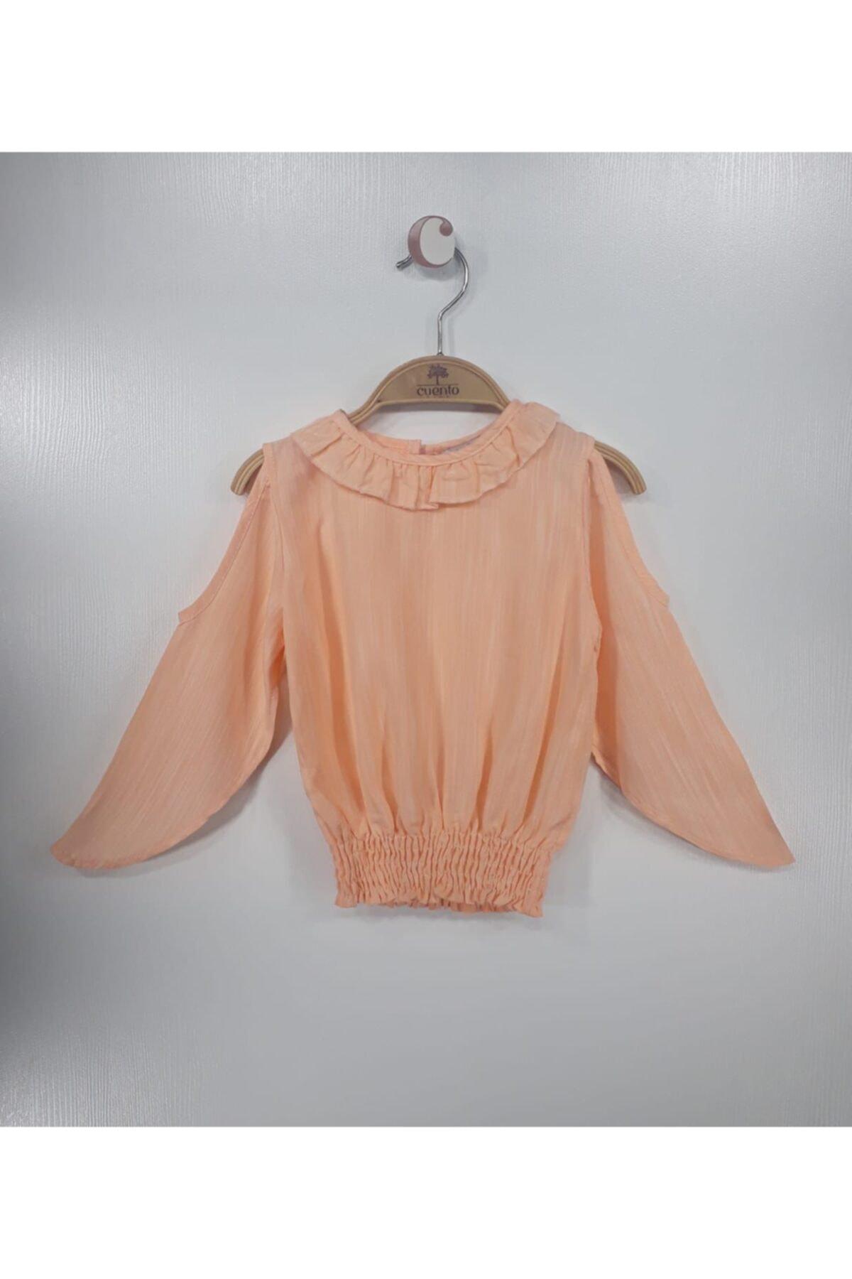 خرید بلوز دخترانه ترک جدید برند MATILDA رنگ نارنجی کد ty114359361