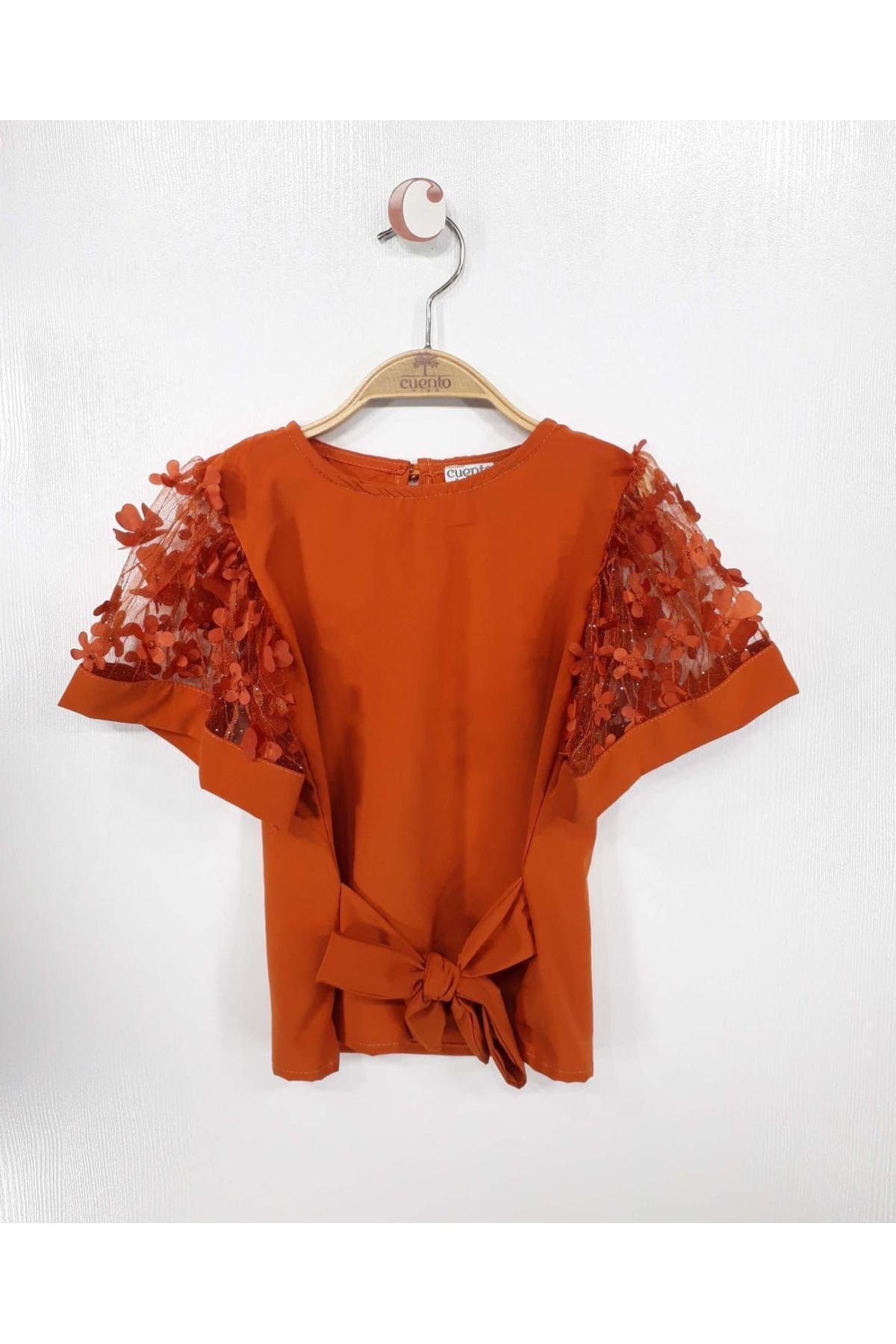 فروش بلوز دخترانه نخی برند MATILDA رنگ قهوه ای کد ty114359671