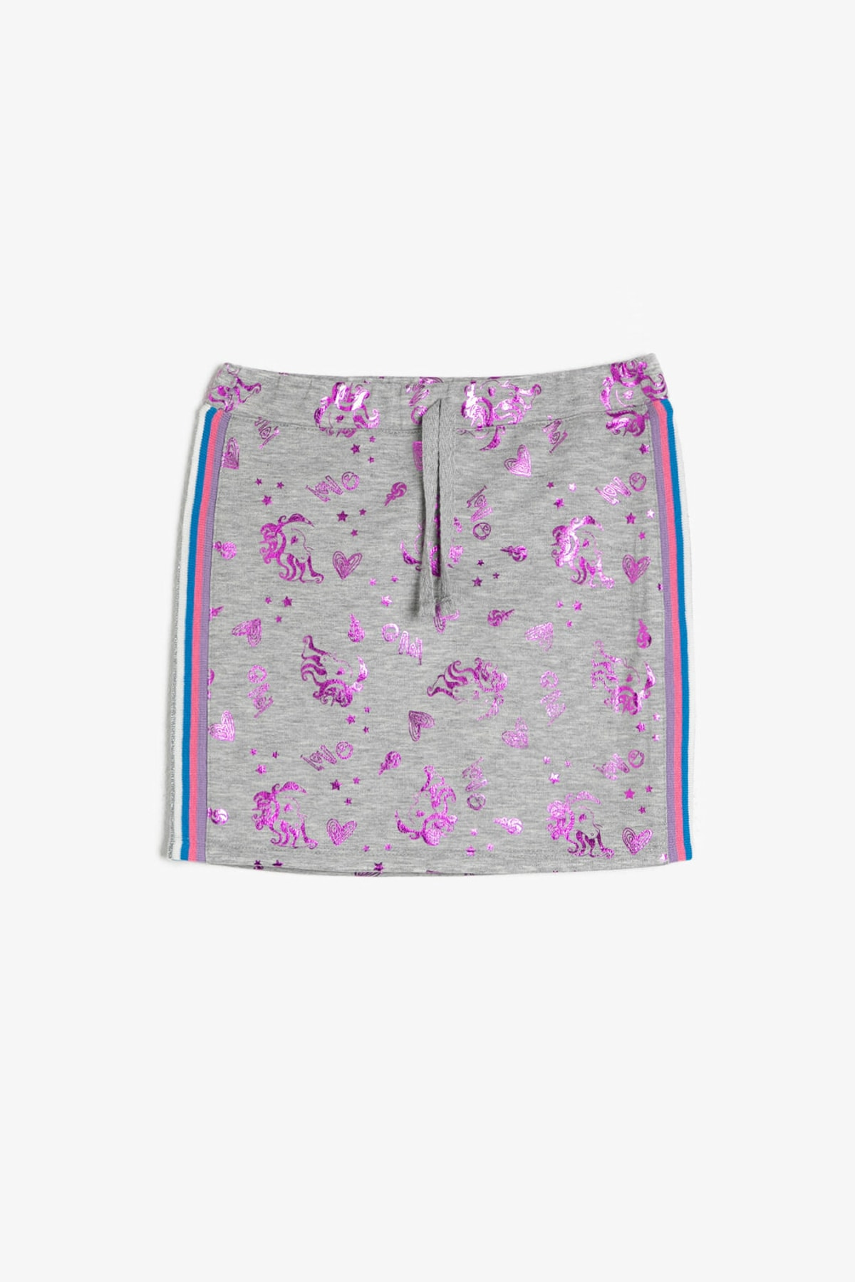 فروشگاه دامن دخترانه تابستانی برند Koton Kids رنگ نقره ای کد ty32739870