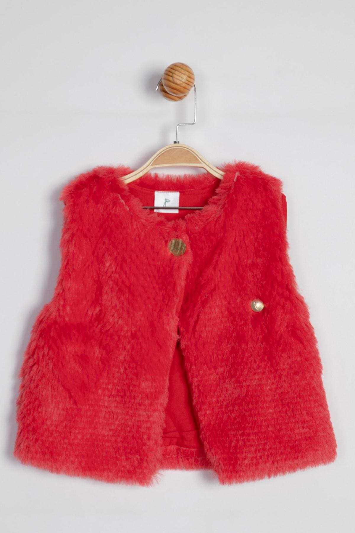 حرید اینترنتی جلیقه دخترانه ارزان برند Panolino رنگ قرمز ty33010605
