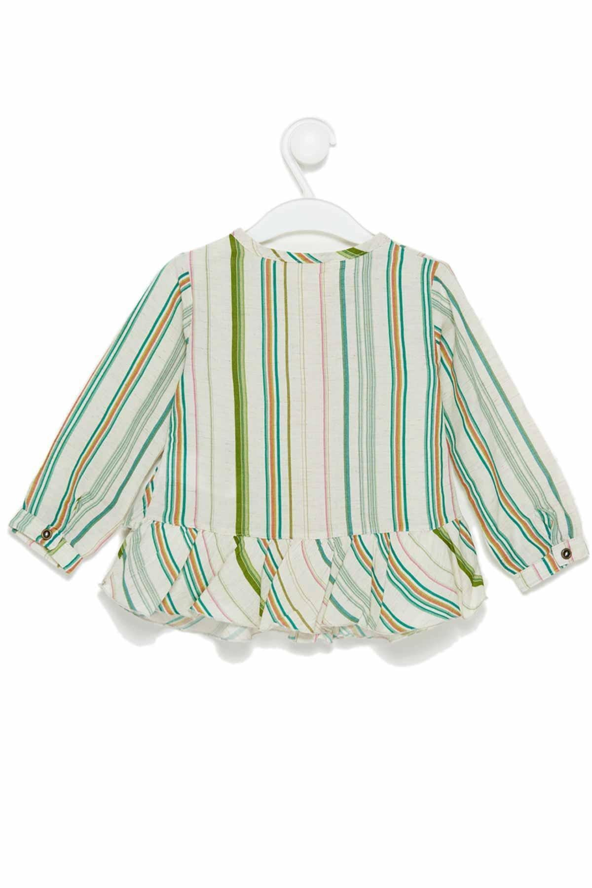 ژورنال پیراهن نوزاد دخترانه برند Çikoby رنگ سبز کد ty34376073