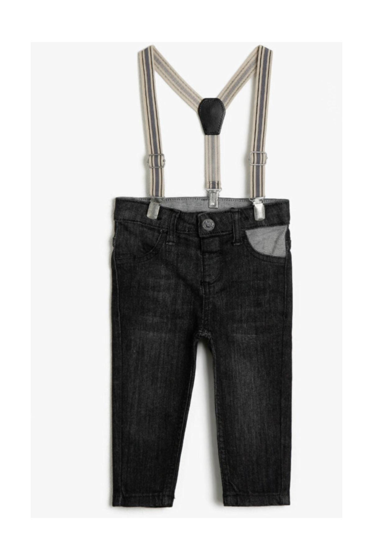 سفارش انلاین شلوار جین بچه گانه دخترانه ساده برند Koton Kids رنگ مشکی کد ty35153282