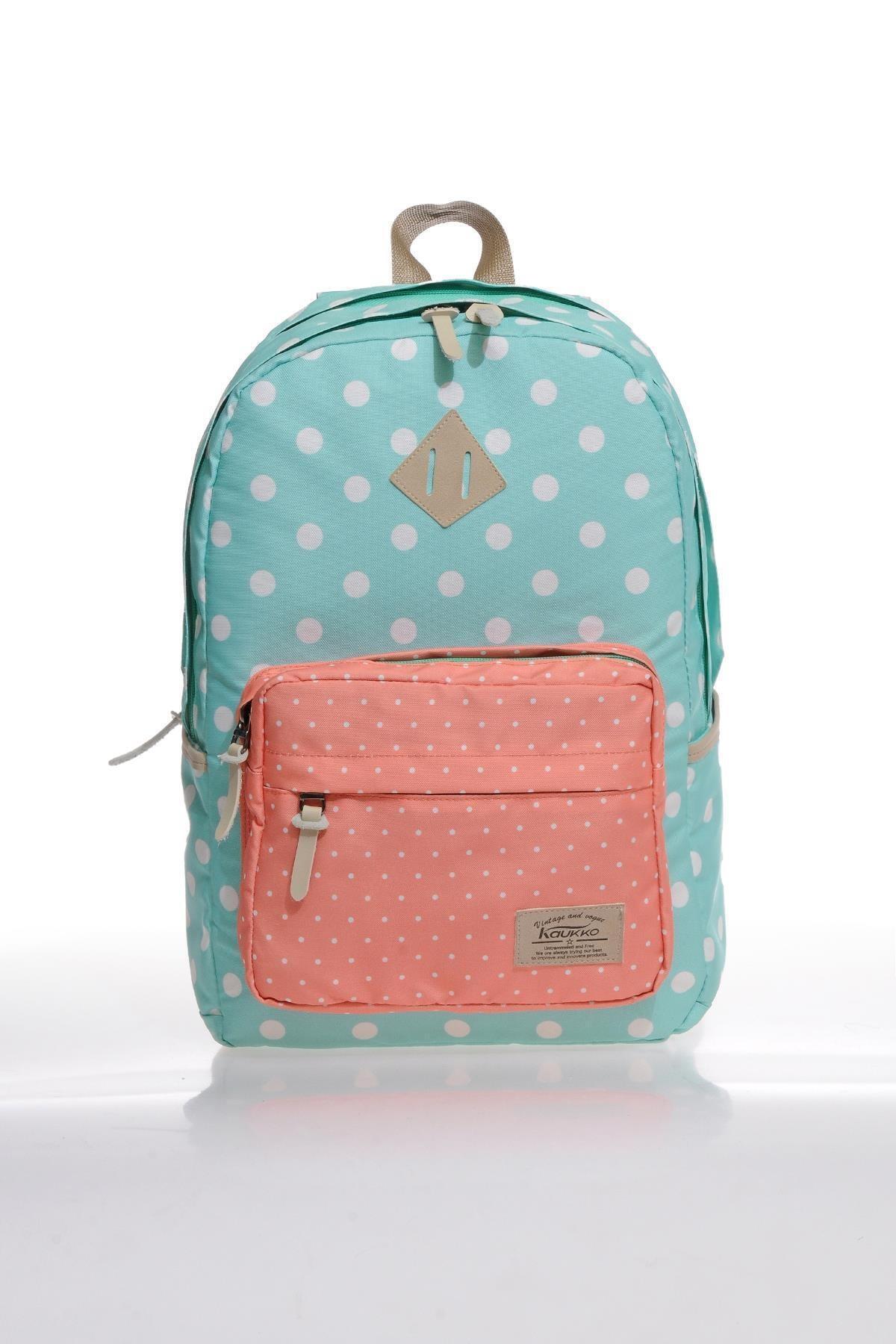 فروشگاه کوله پشتی بچه گانه دخترانه  برند KAUKKO رنگ فیروزه ای ty35346109