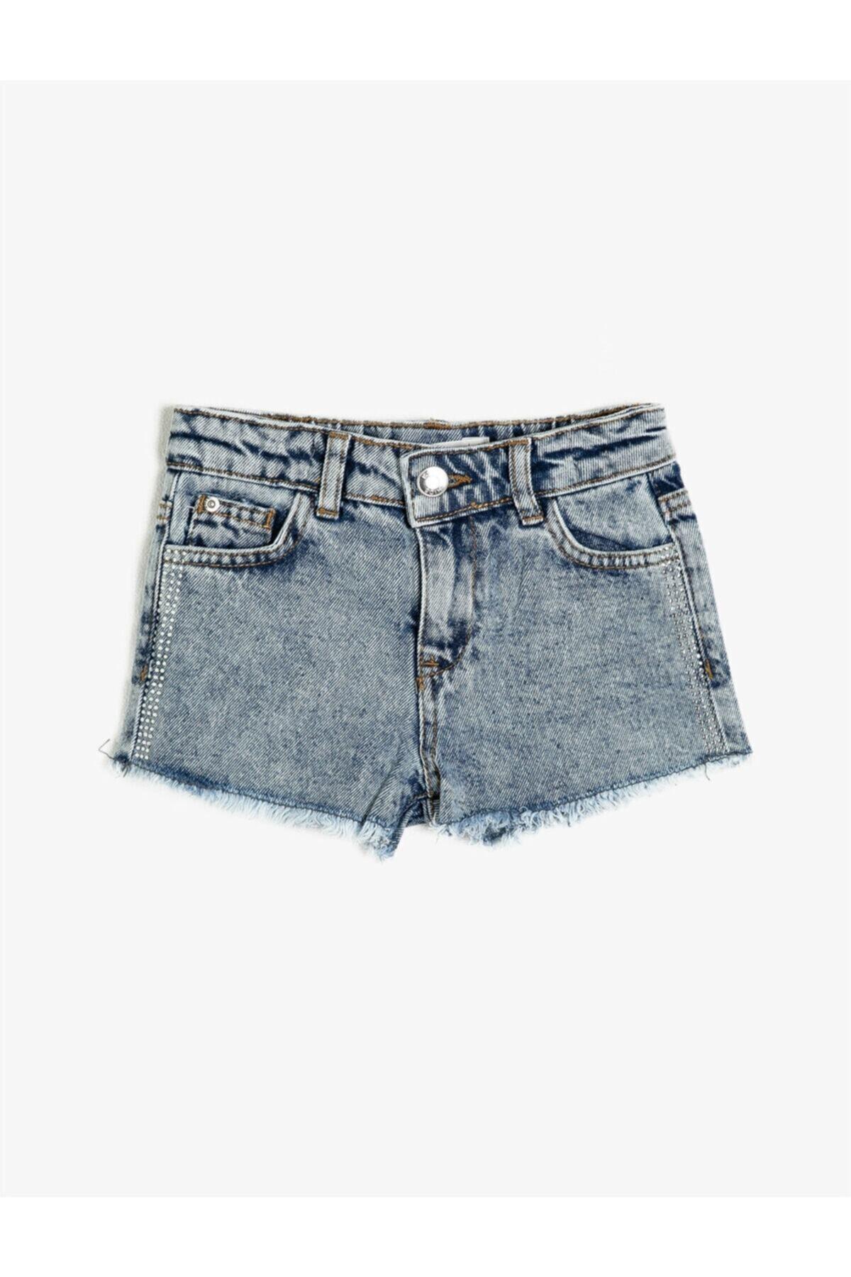 سفارش انلاین شورتک دخترانه ساده برند کوتون رنگ آبی کد ty39365298